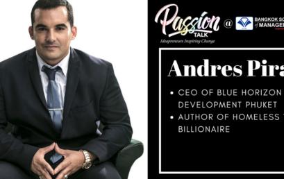 Passion Talk – Ideapreuners Inspiring Change Serial Events:  Meet the CEO of Blue Horizon Development Phuket, Andres Pira