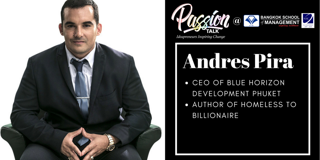 Passion Talk – Ideapreuners Inspiring Change Serial Events:  Meet the CEO of Blue Horizon Development Phuket, Andres Pira