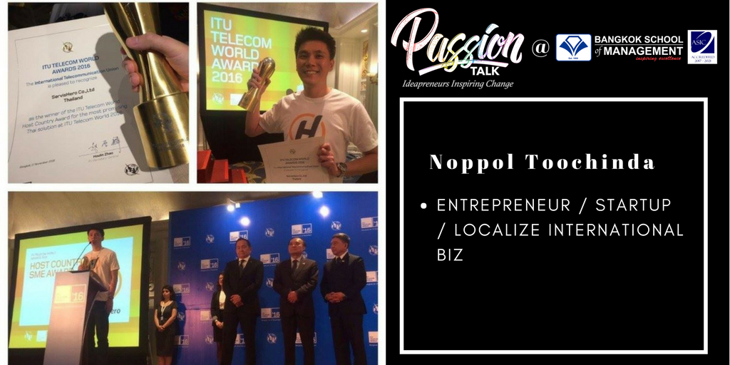 Passion Talk – Ideapreuners Inspiring Change Serial Events:  Meet Noppol Toochinda