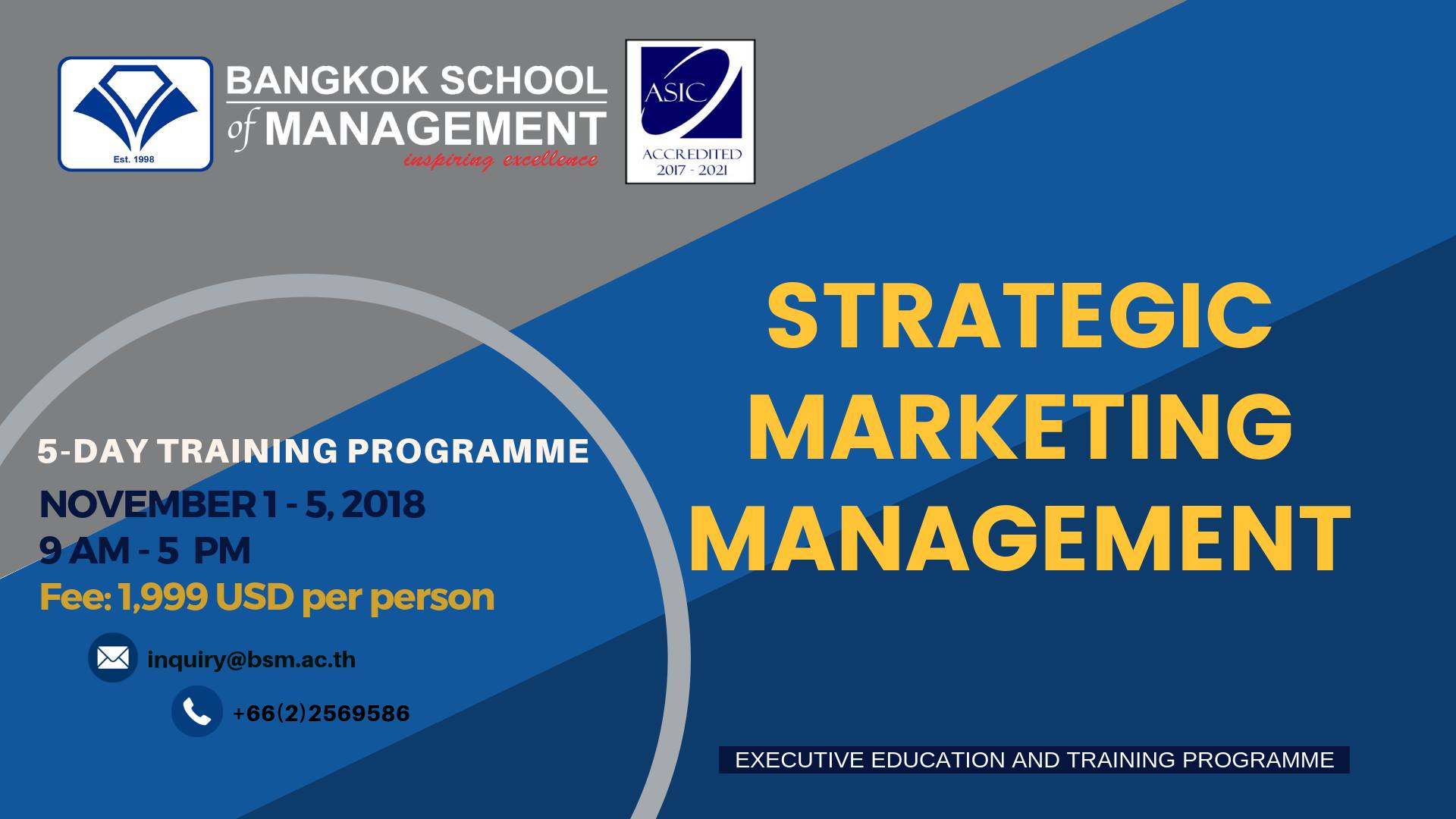 Date November 1 5 Strategic Marketing Management Bsm